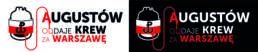 Logo akcji Augustów oddaje krew za Warszawę